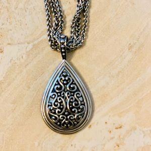 Lia Sophia silver 16 in necklace.